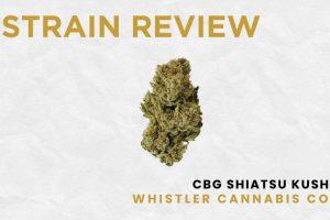 Strain Review: CBG Shiatsu Kush by Whistler Cannabis Co