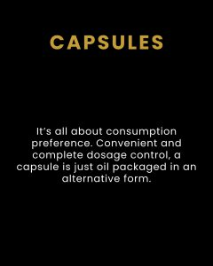 THC & CBD Capsules - Products We Carry