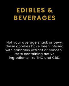 Cannabis Edibles & THC Infused Beverages - Products We Carry