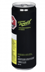 Tweed Houndstooth & Soda: Cannabis-Infused THC Beverage