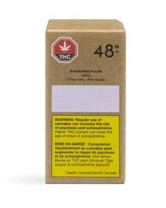 48 North Cannabis - Granddaddy Purple Indica: 3 Pre-Rolls
