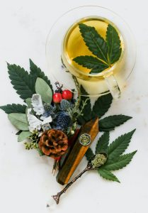 entourage effect of cannabis; the combination of scents, flavours, and strains