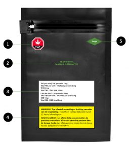 cannabis label on package