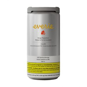 Everie - Mango Passionfruit CBD Sparkling Water - can