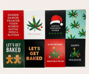 Cannabis gift guide Hunny Pot holiday cards